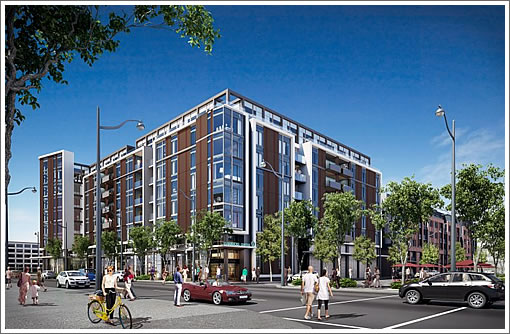 Mission Bay Block 2 Rendering: Fourth Street Facade