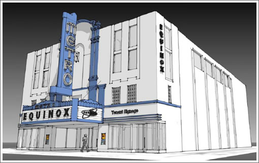 Metro Theater Facade Rendering