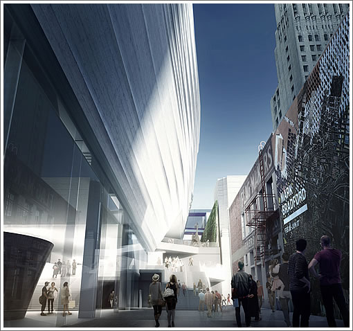 SFMOMA Expansion Rendering: Howard Street Entrance