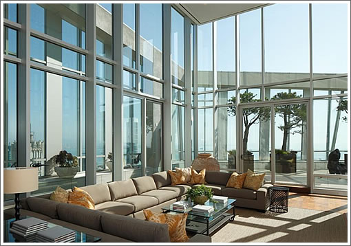 188 Minna Penthouse Living View