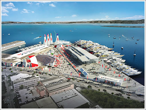 AC34 Venue Rendering: Piers 27-29