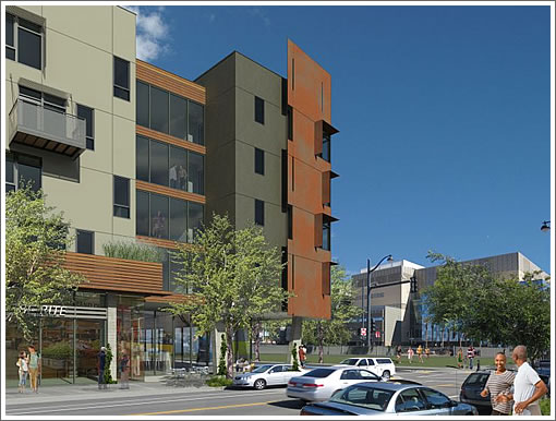 Mission Bay Block 7 West Rendered With A Bi-Rite In Mind