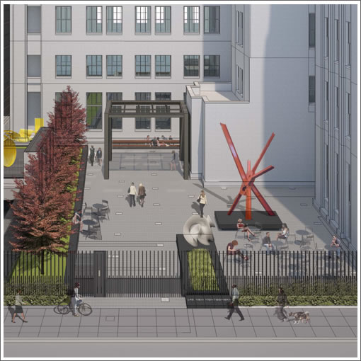 140 New Montgomery Sculpture Garden Rendering
