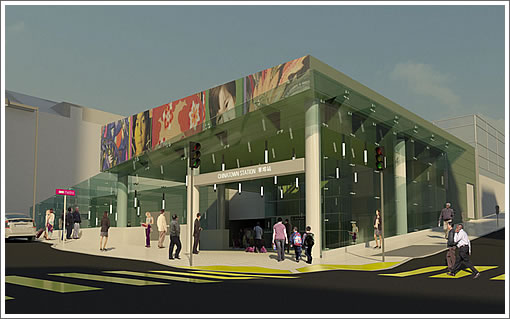Central Subway Chinatown Station Rendering