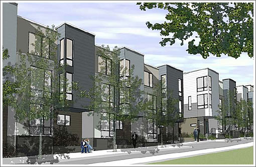 Parcel P Rendering: Hickory Street
