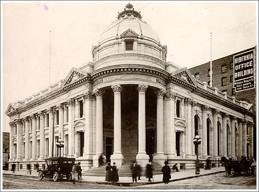 Hibernia Bank Building Rebuilt