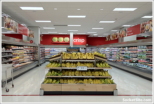 San Francisco CityTarget Grocery Section (www.SocketSite.com)