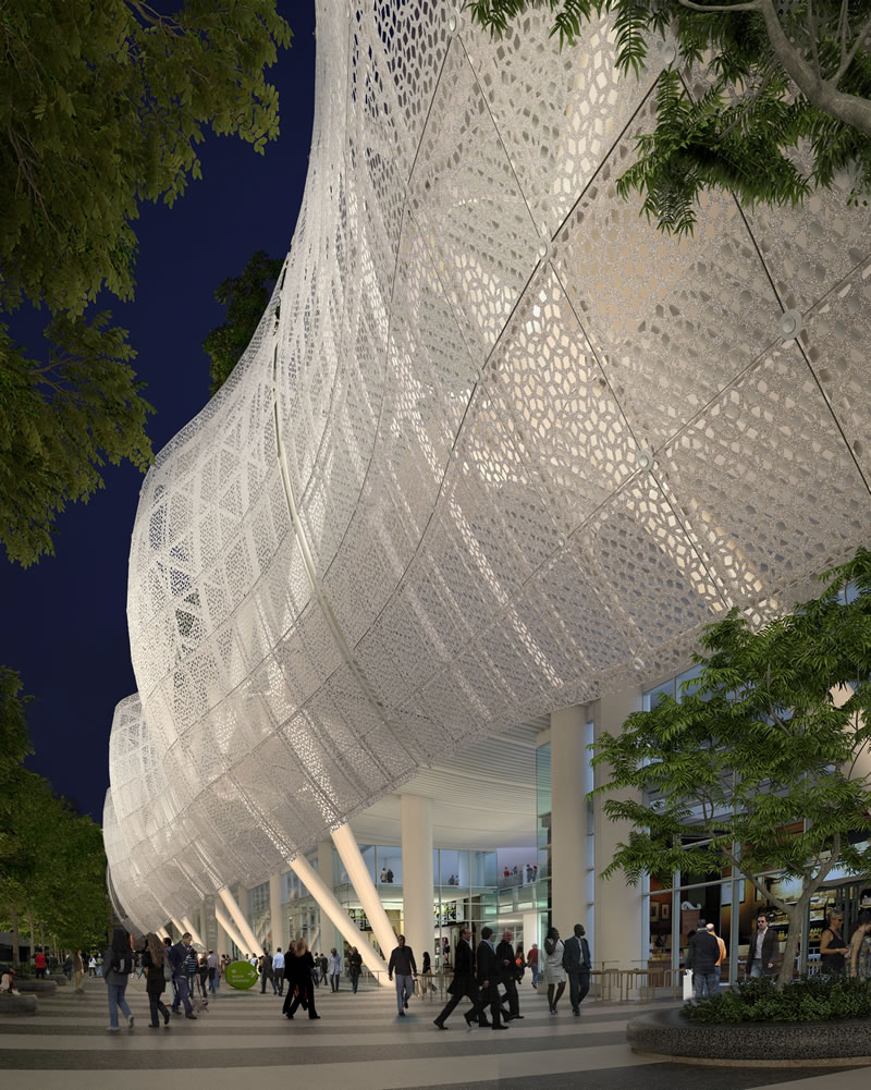Transbay Transit Center Skin at Night