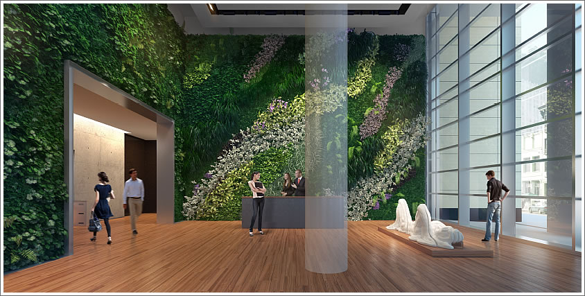 how to build a green wall