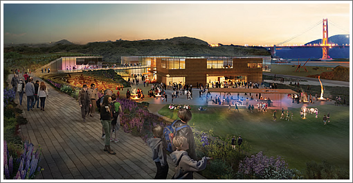 the three competing designs for the presidio s commissary site