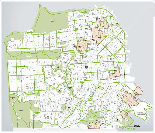 San Francisco's Green Connections Map