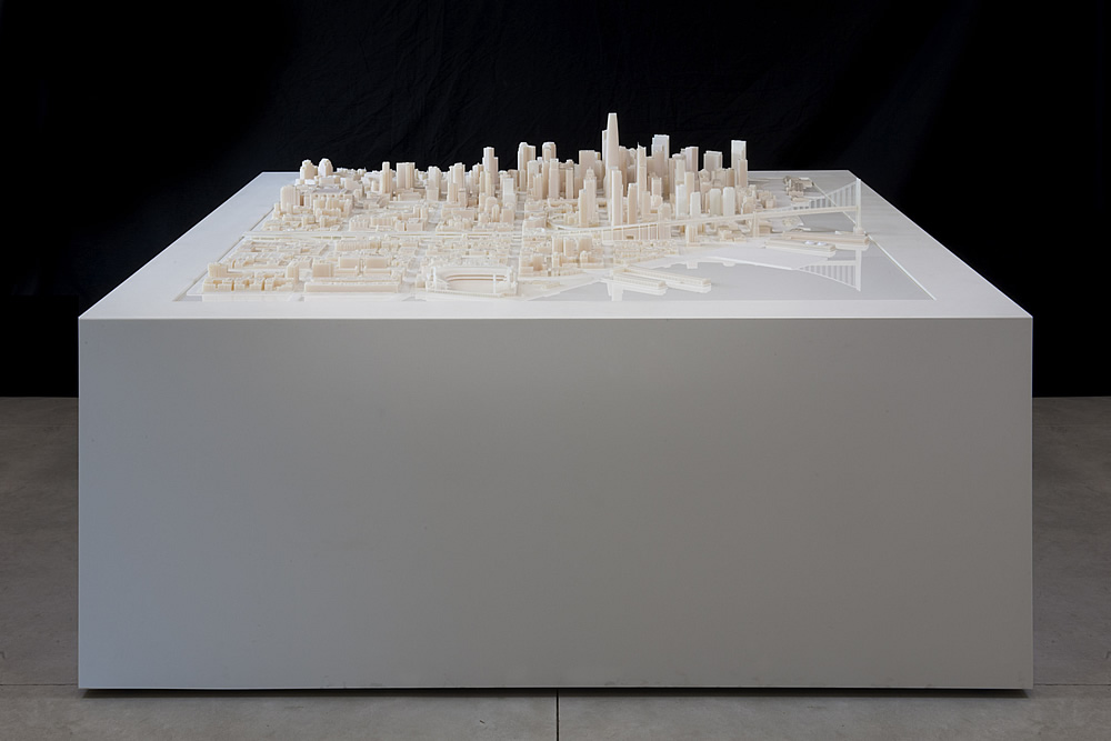 Printed 3D Model of San Francisco