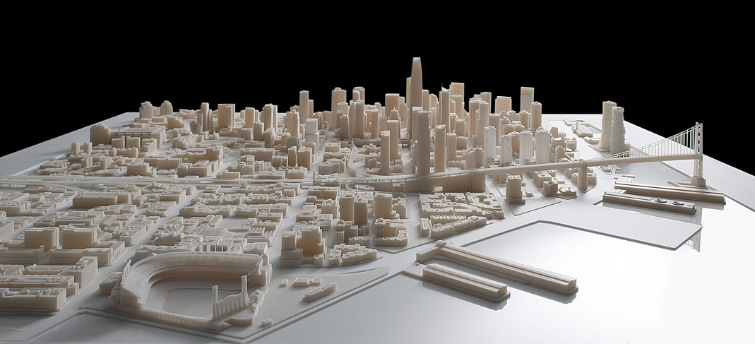 San Francisco 3D-Printed Scale Model