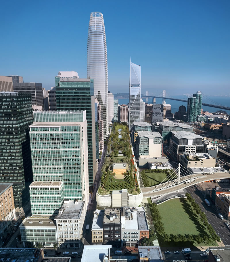 Transbay Transit Center Aerial