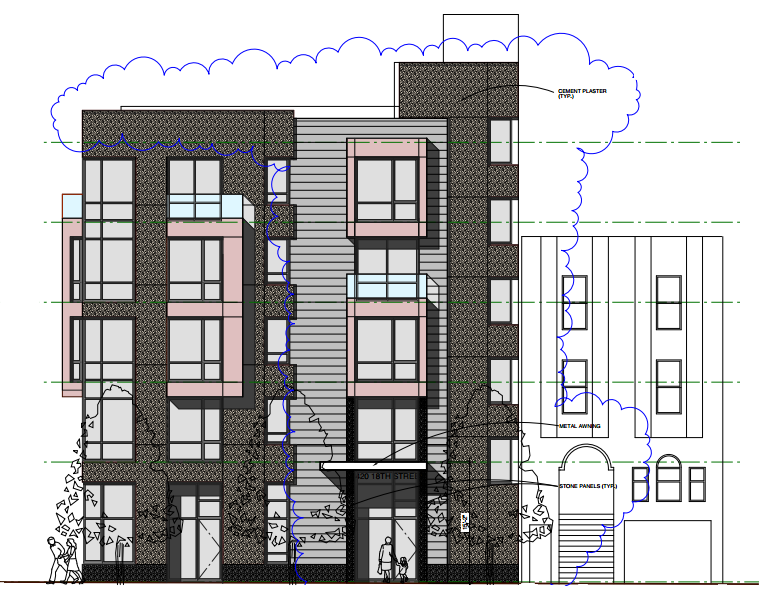 3420 18th Street Design: 18th Street Elevation