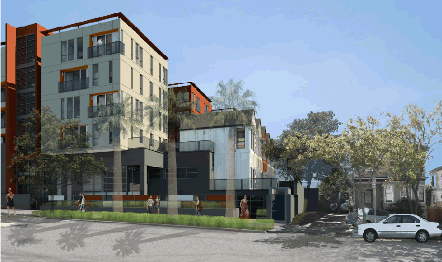 Parker Place Rendering: Parker Facade Revised