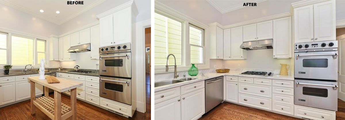 2418 Webster Kitchen: Before and After
