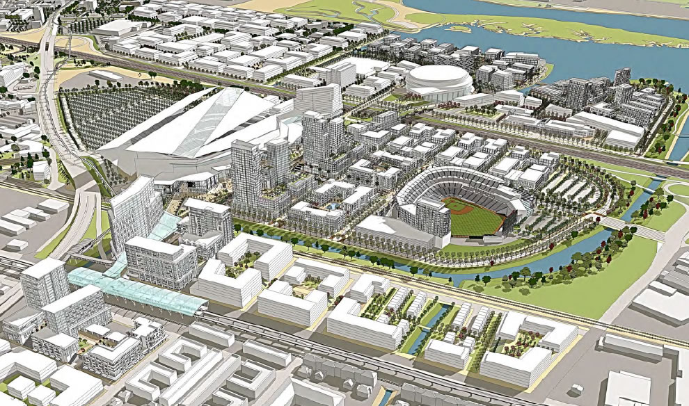 Oakland's Coliseum City Site Plan
