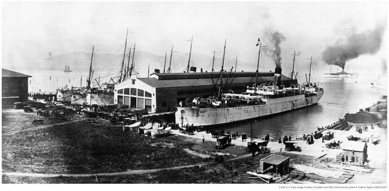 Fort Mason Pier 2 in the early 1900's