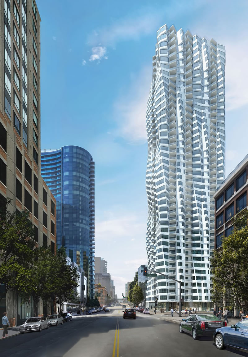 Height Increase for Twisty 400-Foot 'Bay Tower' Under Review