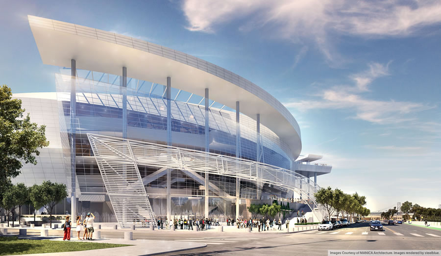 Warriors Mission Bay Arena Rendering - Southeast Plaza