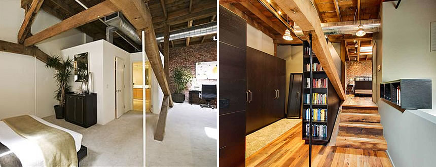 Socketsite a dramatic remodeling of a warehouse loft - Warehouse remodeled into house ...