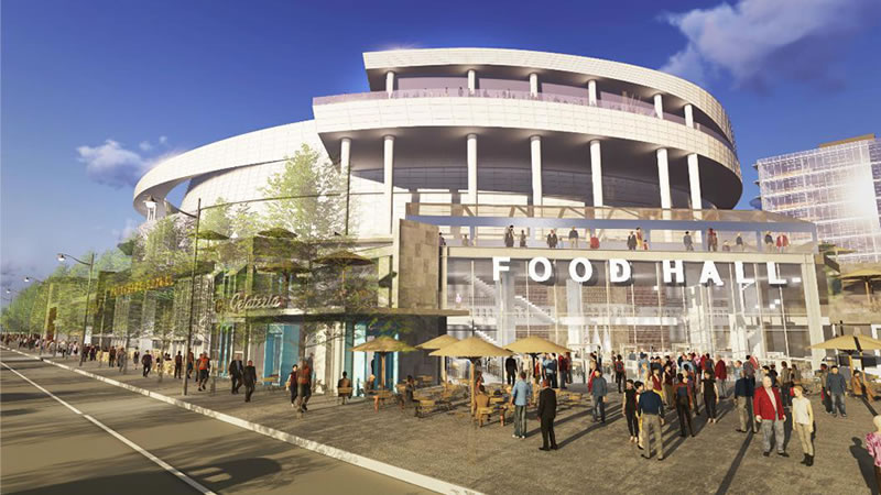 New Warriors Arena Renderings: The Restaurants And Boulevard