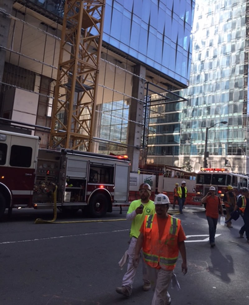 New Salesforce Tower On Fire