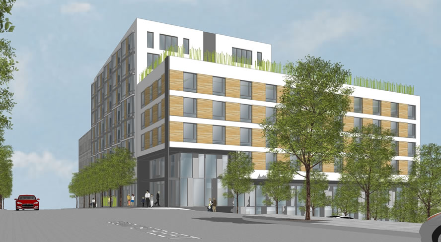 950 Gough Street Rendering West Facade