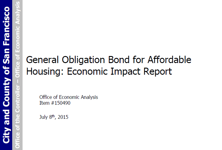 Affordable Housing Bond Report And Average Rent-Control Tenancy