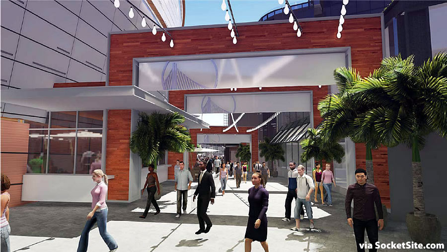 Warriors Mission Bay Arena Rendering 11-3 Arches
