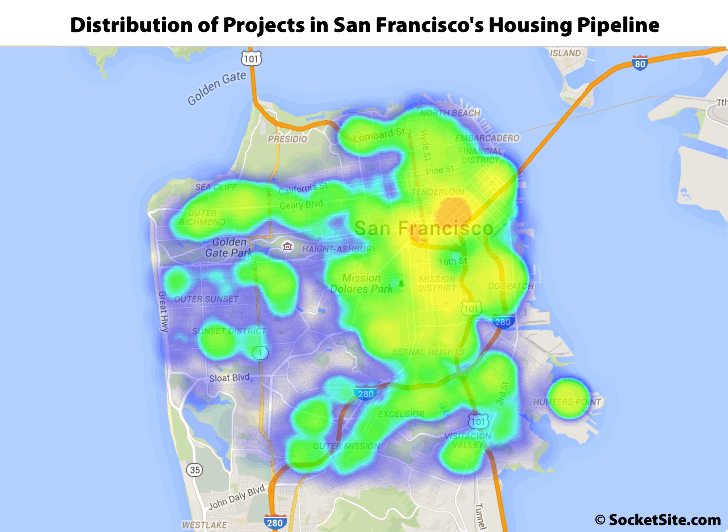Distribution of Developments in San Francisco's Housing Pipeline: Q3 2015