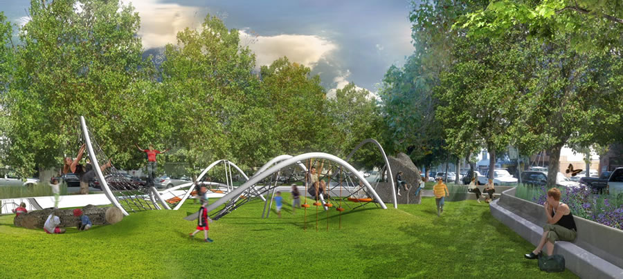 South Park Improvement Project Rendering Play Area