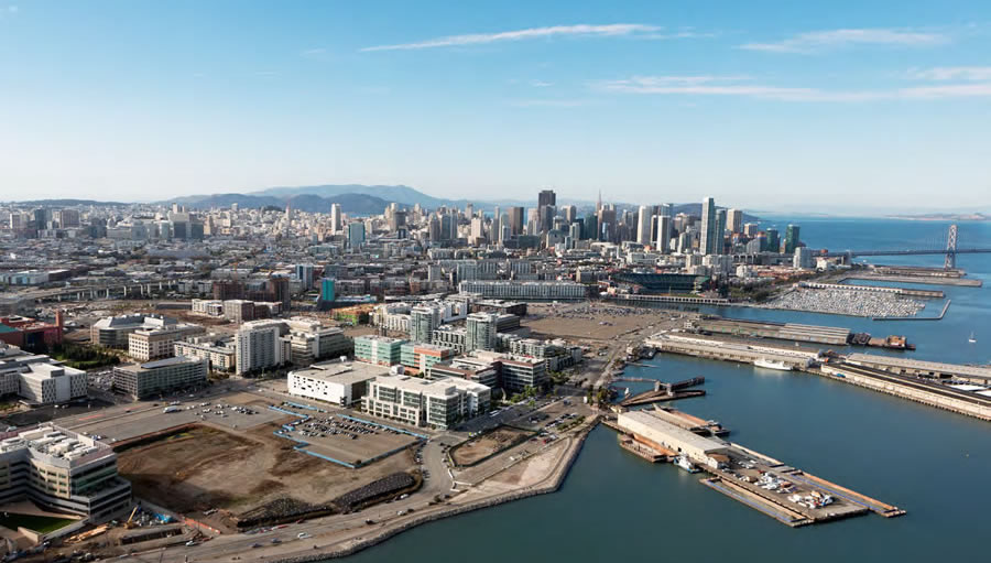 Warriors Mission Bay Arena Site Aerial crop
