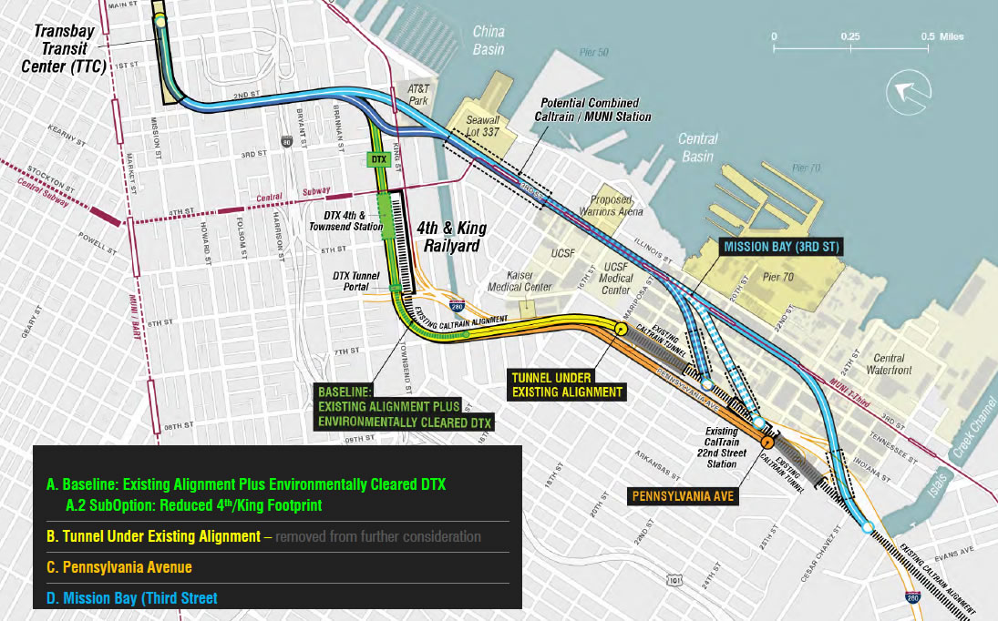 The Options for Redeveloping SF's Railyard, Tracks and I-280's End