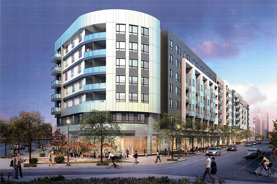 Plans for 225-Unit Auto Row Development Progress