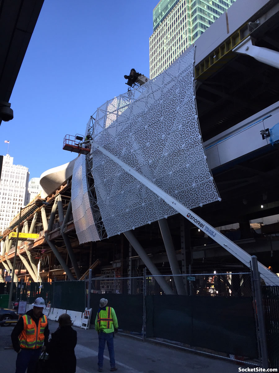 First Peek at the Transbay Transit Center's New Skin
