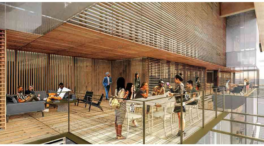 uber office design. Uber Mission Bay Campus Rendering 2016 - Commons 6th Floor Office Design