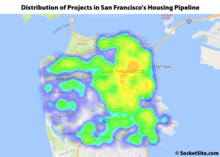 Distribution of Developments in San Francisco's Housing Pipeline: Q2 2016