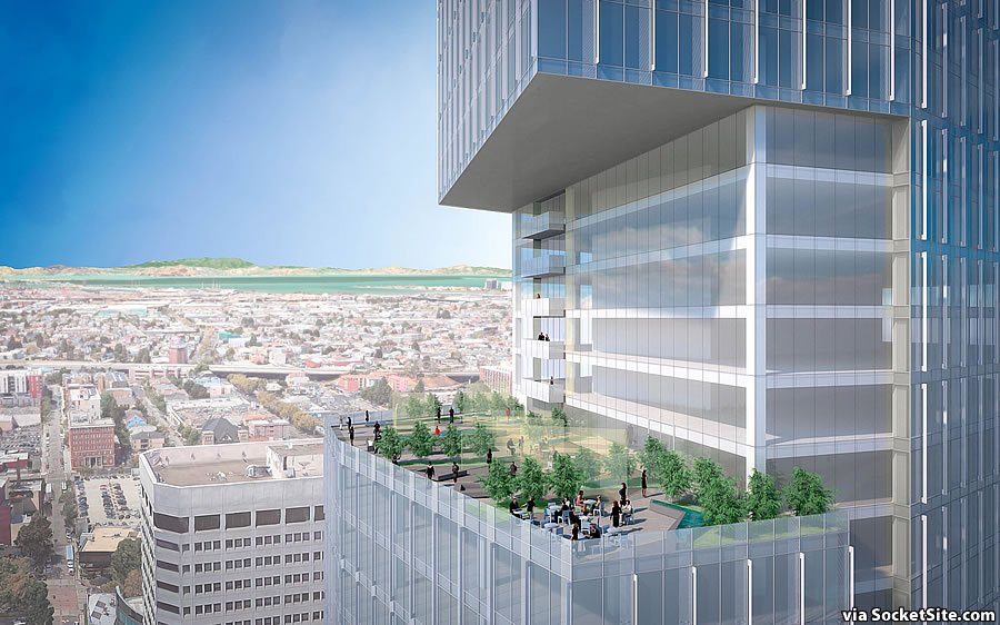 Big and Bigger Plans for an Oakland Tower and Terrace in the Sky