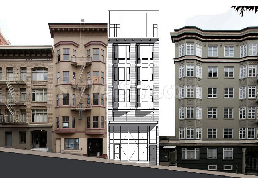 From Apartments to Hotel Rooms in the Tendernob as Proposed