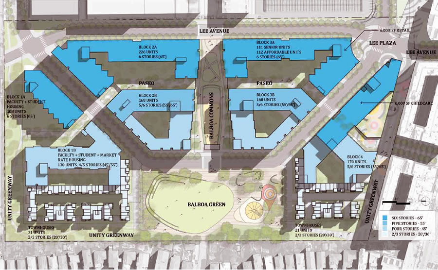 Balboa Park Reservoir Proposal - Emerald - Site Plan
