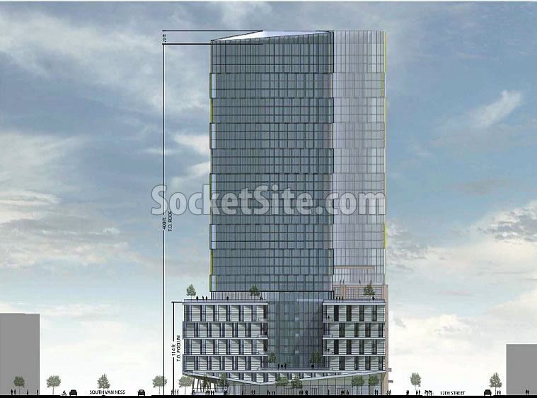 10 South Van Ness Rendering 2017 - Twin Towers Side