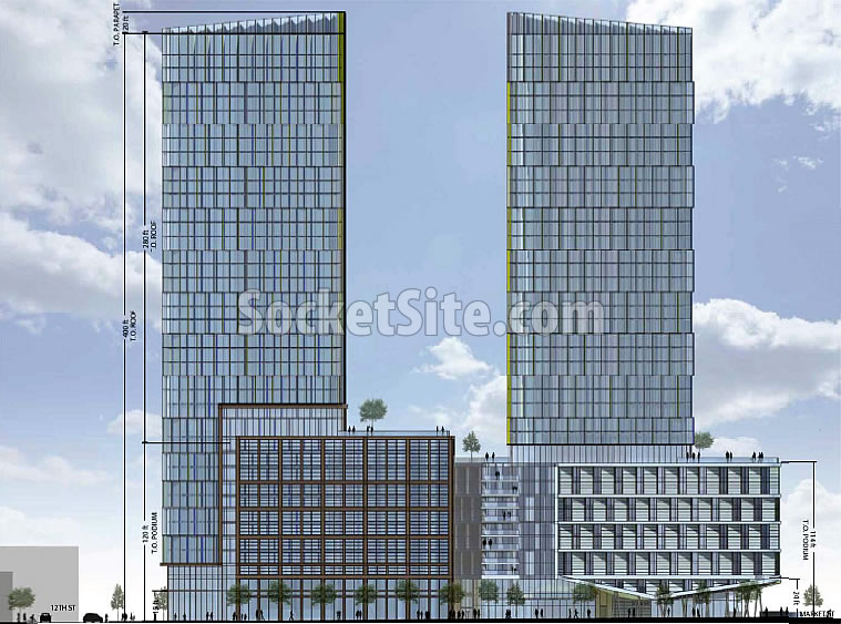 10 South Van Ness Rendering 2017 - Twin Towers