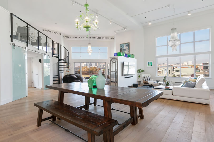 Ironic Decor and Reduction for a Remodeled 'Penthouse' Loft