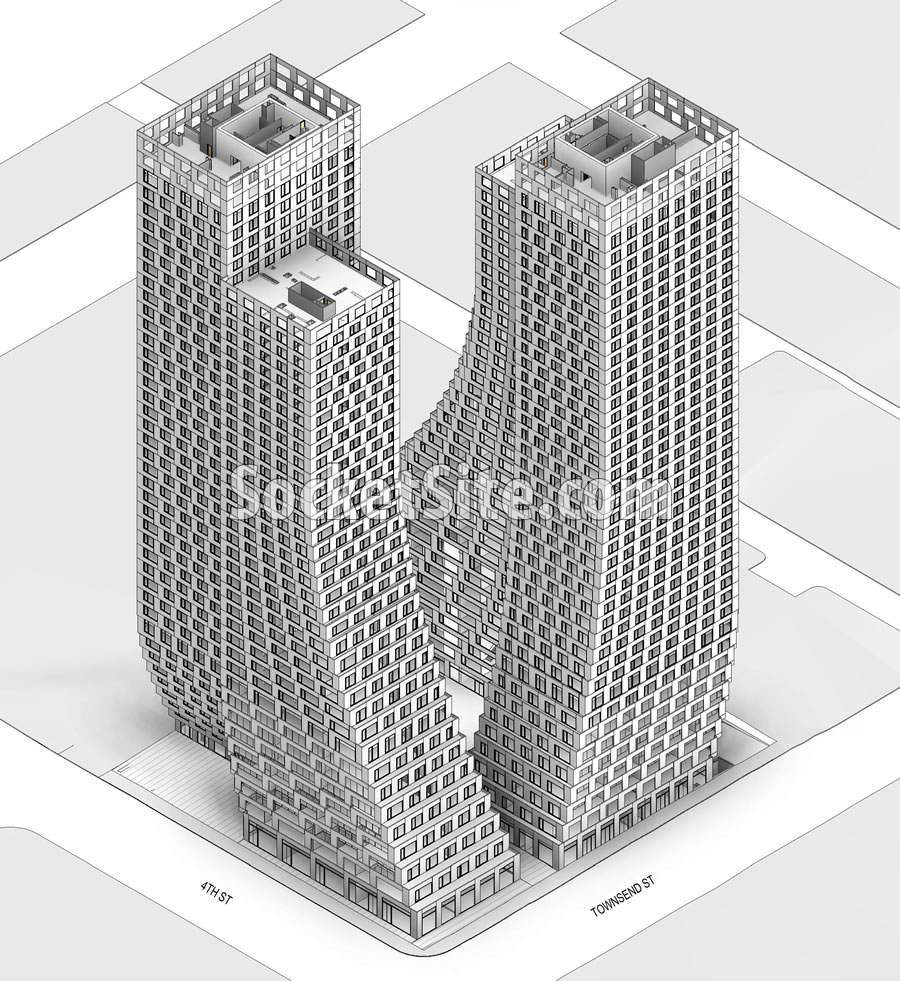 Plans for a Pair of Swoopy SoMa Towers Revealed