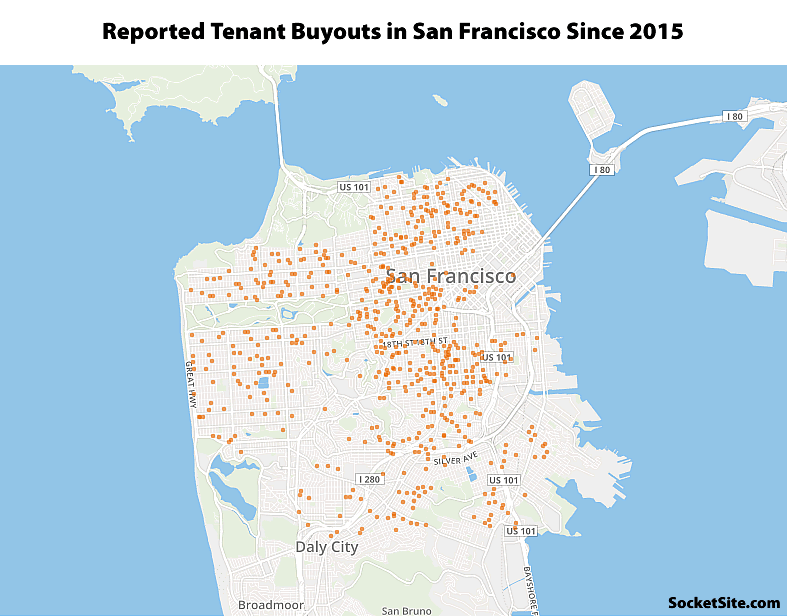 Tenant Buyouts of up to $310,000 in San Francisco since 2015