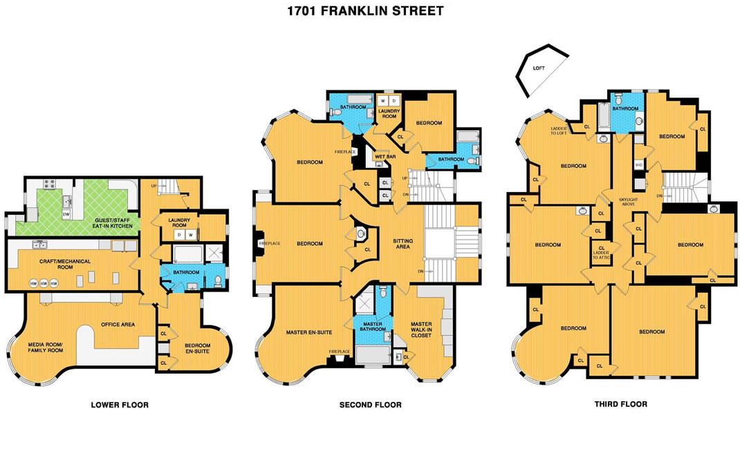 1701 Franklin Street Floor Plans