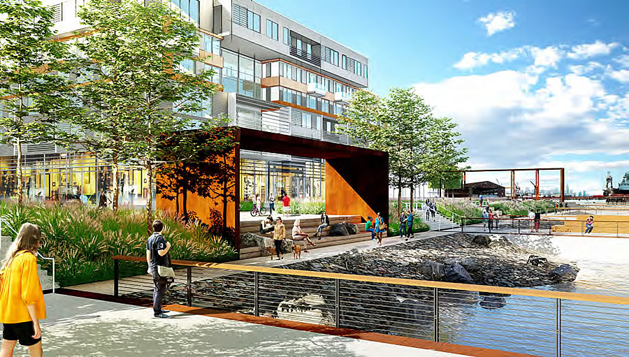 Pier 70 Rendering - Open Space - Waters Edge