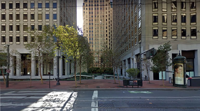 New Life and Passage for a Market Street Plaza as Proposed